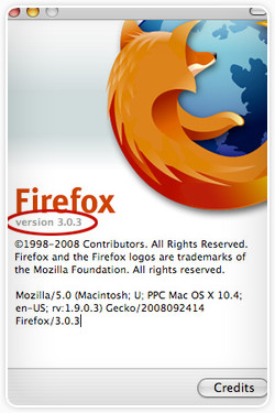 Mac OS X Firefox About Window