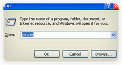 Windows XP Run Dialog